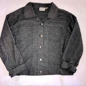 Chico's Design black utility jacket